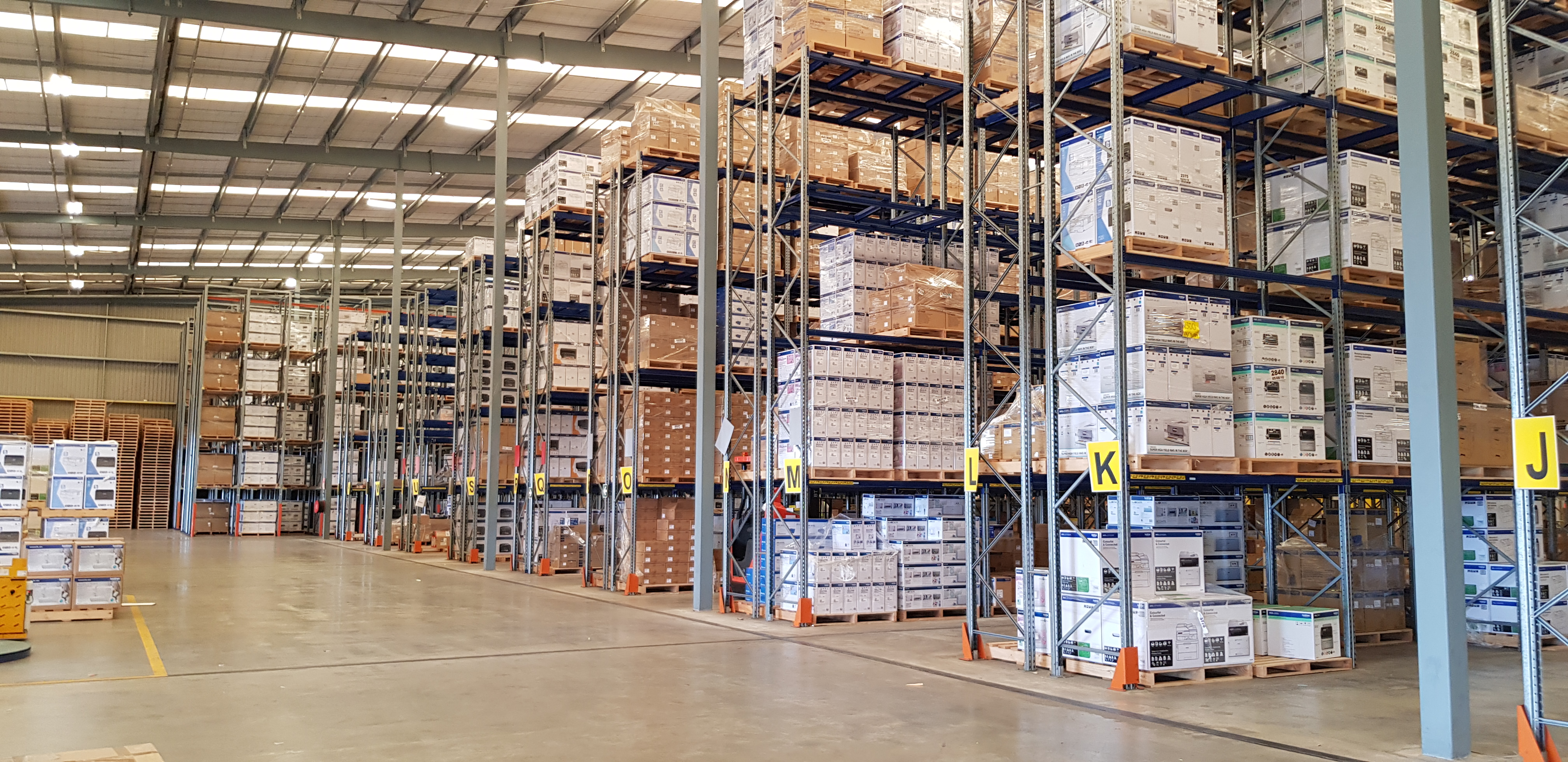 A fibre slab helping distribute weight loads in a coolstore in New Zealand